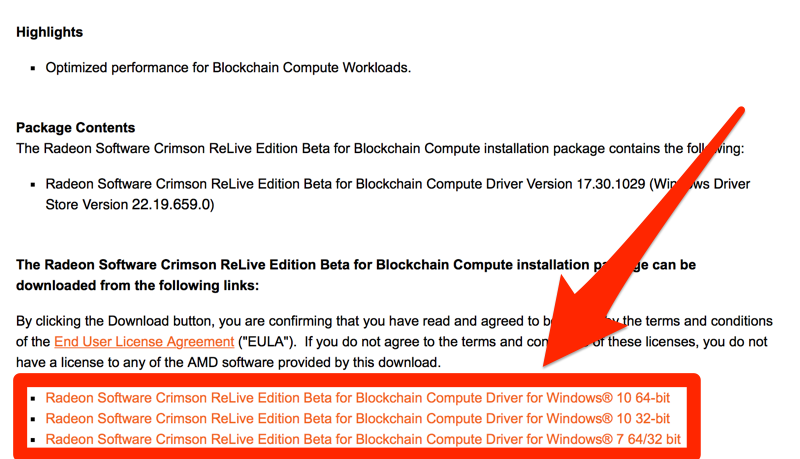 Radeon Software Crimson ReLive Edition Beta for Blockchain Compute